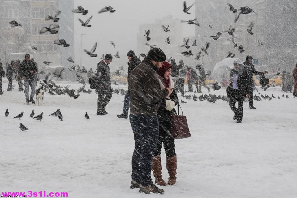 الثلوج تجتاح اسطنبول
